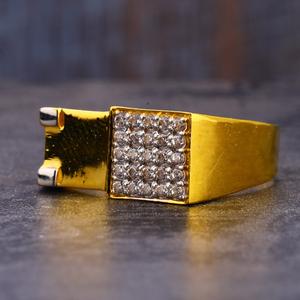 916 gold cz hallmark delicate gentlemen's  ri