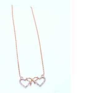 18kt rose gold 2 hart shape pendant special v