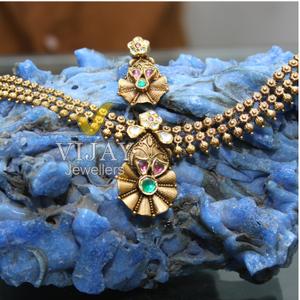 916 gold hallmarked antique designer necklace