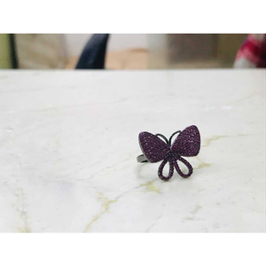 92.5 sterling silver butterfly ring
