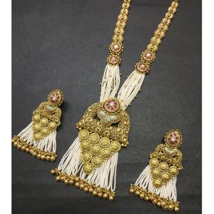 22kt gold antique bridal necklace set kg-n024