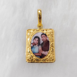 916 gold fancy photo mina pendant