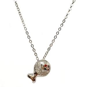 925 sterling silver fish shaped designer neck
