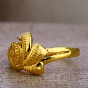 750 gold ladies exclusive plain ring lpr463