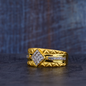 Mens 22k gold ring-mr350