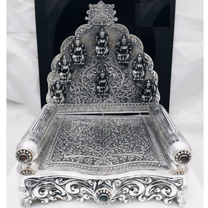 92.5 pure silver asthalakshmi singhasan with