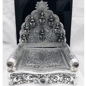 92.5 pure silver asthalakshmi singhasan with