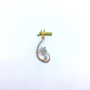 Fancy flower rose gold real diamond pendant