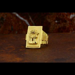 916 22 carat fancy gents ring
