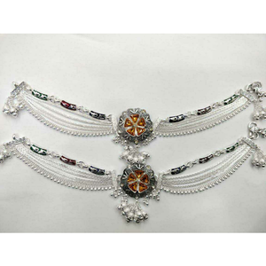 Middle broach 2(two) tone payal ms-3665
