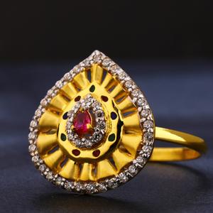 22kt gold cz hallmark ladies  ring lr410