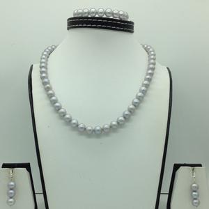 Freshwater steel grey round 1lines pearls