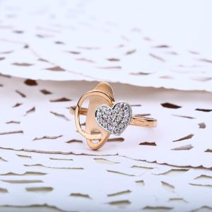 Ladies rose gold ring-rlr02