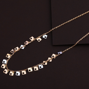 18kt rose gold ladies hallmark necklace  rtm1