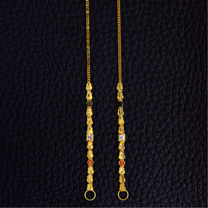22kt  earrings chain