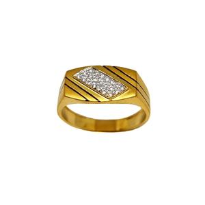 22k gold modern oxidised gents ring mga - grg