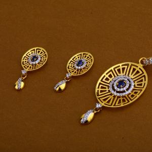 22ct cz ladies exclusive pendant set fps102