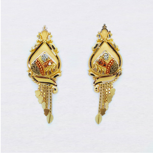 22kt gold latkan earring for women sk-e26