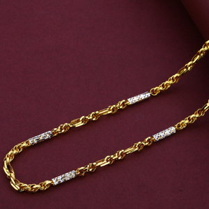 Mens 916 gold daily wear turkey italian chain