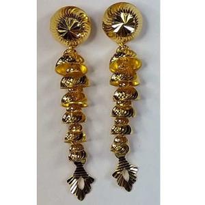 916 gold fancy slowfast earrings akm-er-092