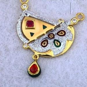 916 gold mangalsutra pendal rh-msp002