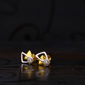 916 gold classic solitare earring lse106