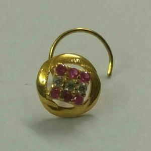 Classic 916 gold diamond nosepin
