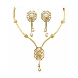 916 gold designer necklace set pj-n002