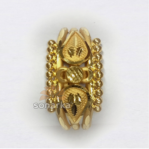 916 gold ball pipe ring for ladies indian des
