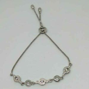 92.5 sterling silver fancy adjustable bracele