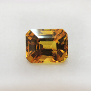 3.21ct rectangle natural yellow-sap
