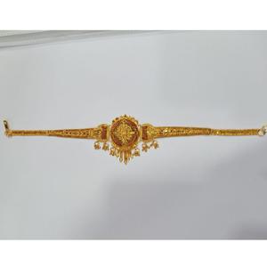Gold plated indian design bajubandh