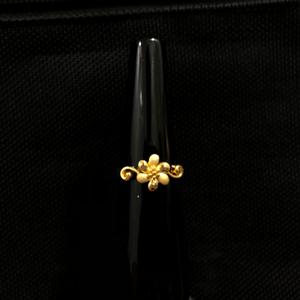 916 gold flower design ring for women kdj-r02