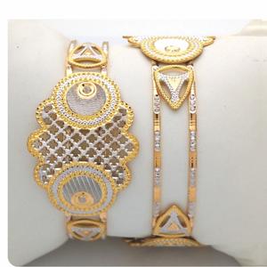 Gold hallmark cnc laser bangle - clj997
