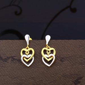 Ladies 22k gold new designer plain earring -l