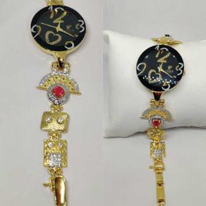 18k ladies fancy gold watch g-2234