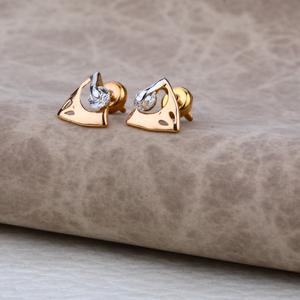 Ladies 18k rose gold delicate earring -re10