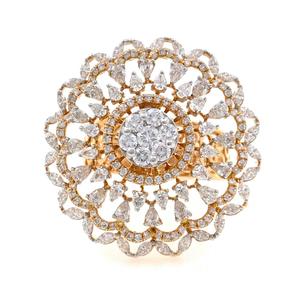 18kt / 750 rose gold bridal diamond ladies ri