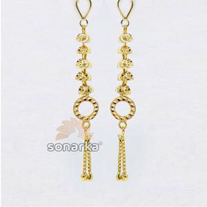 Changeable earring drops in gold sk - e002