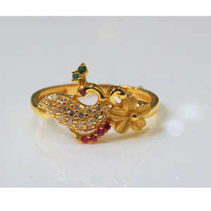 22kt gold cz casting ladies ring