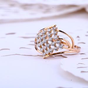 Ladies 18k fancy rose gold ring-rlr389