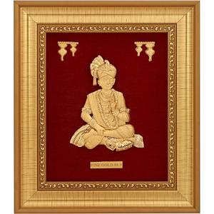 999 gold swaminarayanji frame