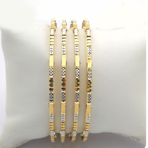 Gold hallmark plain + mani bangle - sml689