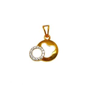 22k gold round shaped pendant mga - pdg1163