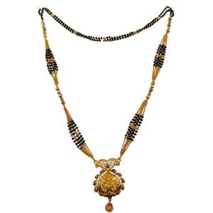 1 gram gold forming peacock mangalsutra mga -