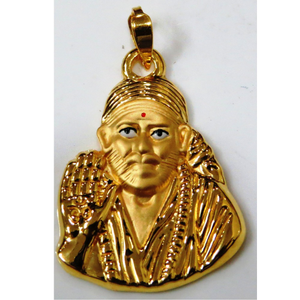22kt gold plain casting saibaba pendant