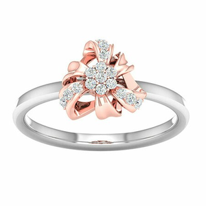 18k white gold rose gold ring mga - rdr0030