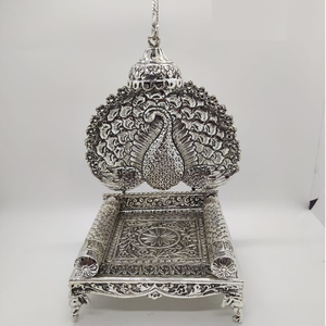 92.5 pure silver solid antique singhasan in m