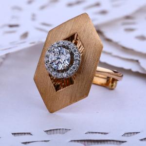 18ct rose gold designer women's hallmark ring