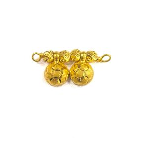 916 gold certified plain ladies round mangals